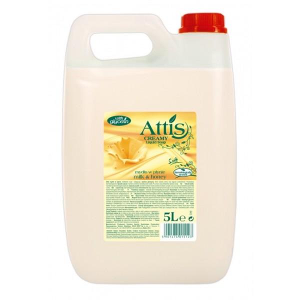 Mydło Attis w płynie mleko-miód 5L