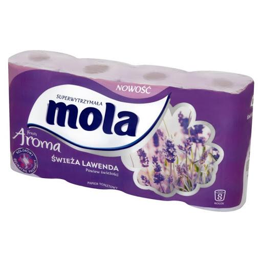 Papier toaletowy Mola a`8szt. (worek-40rolek)*