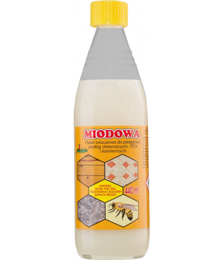 Pasta Miodowa z wosk.pszczelim 440ml
