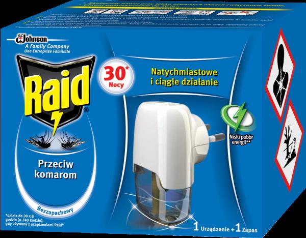 Raid na komary urządzenie do kontaktu + płyn 21ml