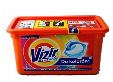 Vizir kapsułki do prania 41 szt kolor