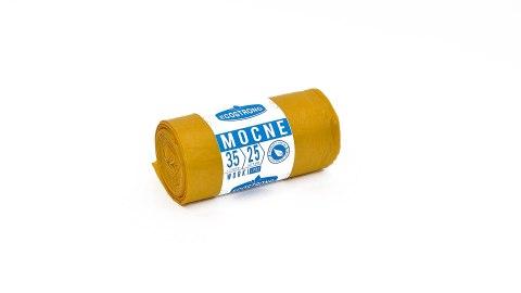 Worki LDPE 60L 25szt żółte Sipeko (30)