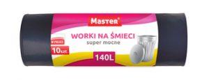 Worki na śmieci MASTER 140L 10szt(12) LDPE S026