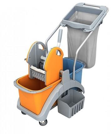 Wózek dwuwiaderkowy 2x20L SPLAST TS2-0012
